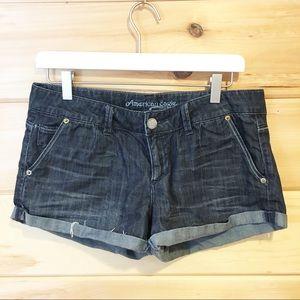 American Eagle | Dark denim jean 2 inch shorts 8